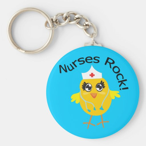 Nurses Rock Key Chain