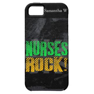 Nurses Rock, Orange and Green Fun iPhone 5 Cover