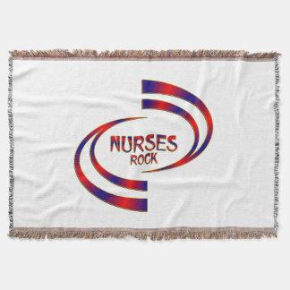 Nurses Rock Throw Blanket
