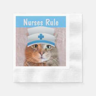Nurses Rule Paper Napkin