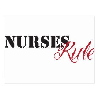 nurses rule postcard