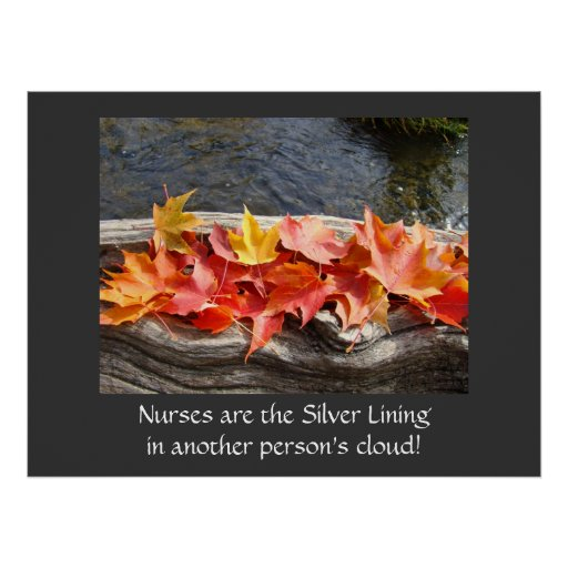 Nurses Silver Lining in another Person's Cloud art Poster