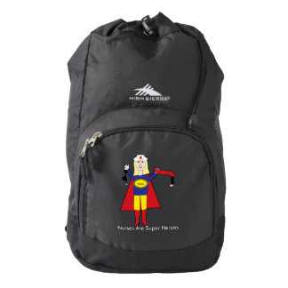 Nurses Super Heroes (Blonde) Backpack
