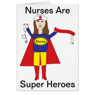 Nurses Super Heroes (Brunette) Card