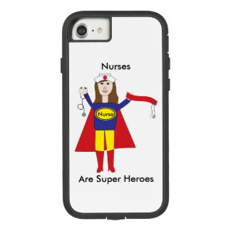 Nurses Super Heroes (Brunette) Personalize Case-Mate Tough Extreme iPhone 8/7 Case