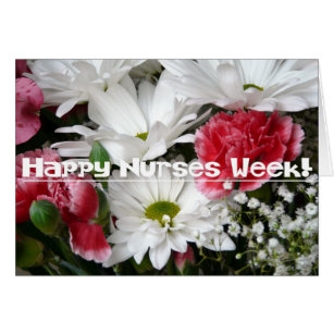 Nurse flower cards invitations zazzle nurses week beautiful flowers in pink and white card m4hsunfo