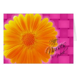 Nurses Week Orange Gerbera Daisy Card