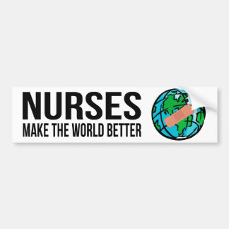Nurses World Bumper Sticker