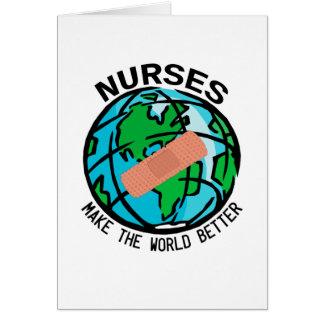 Nurses World Notecard Note Card