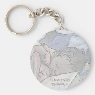 Nursing Baby Key Ring