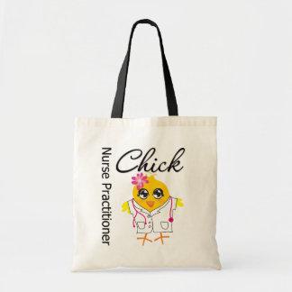 Nursing Career Chick Nurse Practitioner Budget Tote Bag