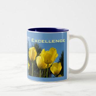 Nursing Excellence Coffee Mugs Yellow Tulips Nurse