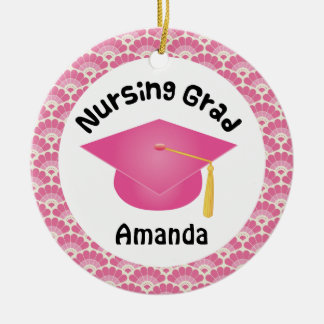Nursing Graduation personalised gift Ceramic Ornament