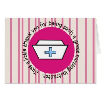 Nursing Instructor Appreciation Card #3