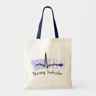 Nursing Instructor QRS Blue Tote Bag