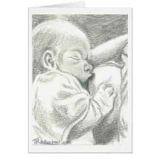 Nursing Newborn Birth Announcement