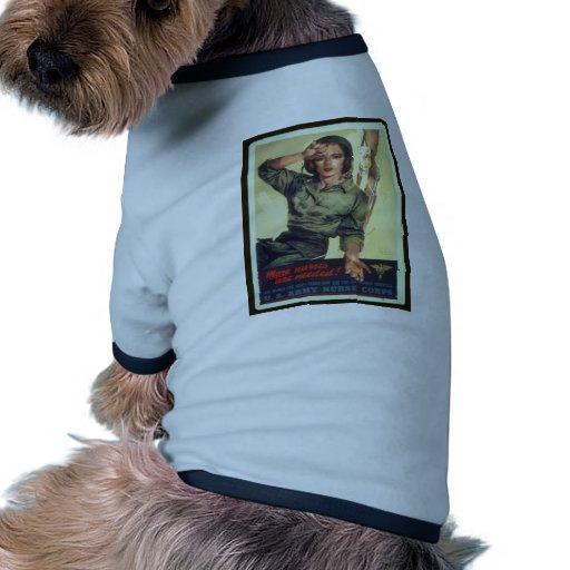 Nursing Recruitment Poster WW ll - Vintage Art Dog Shirt