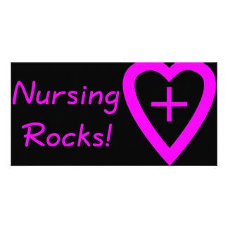 nursing rocks personalized photo card