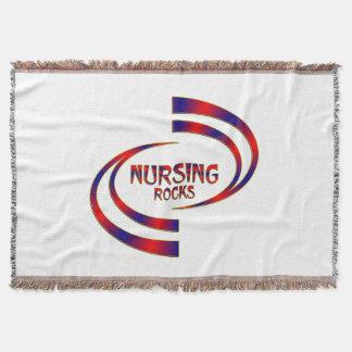 Nursing Rocks Throw Blanket