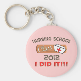 Nursing School 2012 Graduation Basic Round Button Key Ring