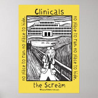 Nursing School Clinicals - the Scream Poster