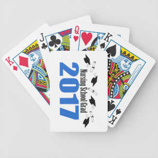 Nursing School Grad 2017 Caps And Diplomas (Blue) Bicycle Playing Cards