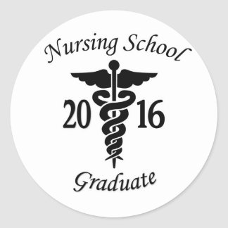 Nursing School Graduate Classic Round Sticker