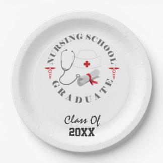 Nursing School Graduate Gear Paper Plate