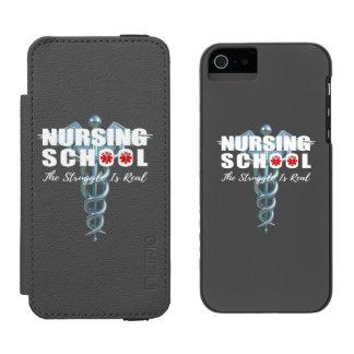 Nursing School The Struggle Is Real Incipio Watson™ iPhone 5 Wallet Case