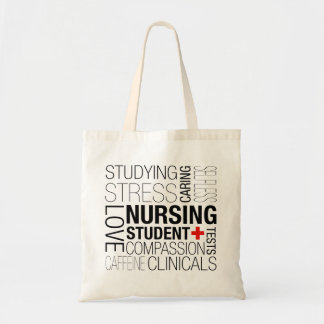 Nursing Student Text Tote Bag