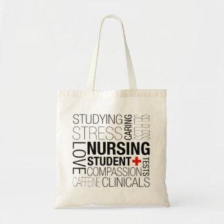 Nursing Student Text Tote Bag