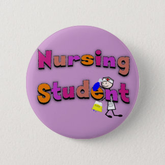 Nursing Student Watercolor Art Stick Person Nurse 6 Cm Round Badge