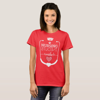 Nursing Students with Stethoscope and a Cute Heart T-Shirt