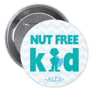 Nut Free Superhero Boy Button