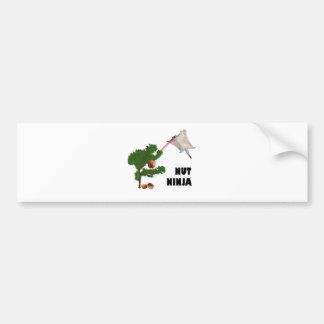Nut Ninja Bumper Sticker