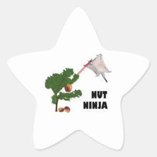 Nut Ninja Star Sticker