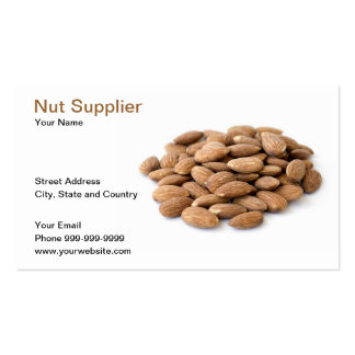 nut supplier pack of standard business cards