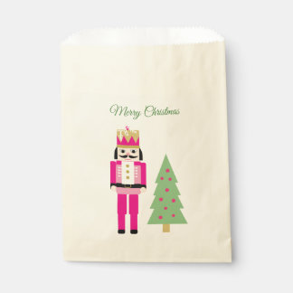 Nutcracker and Christmas tree Favour Bag