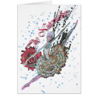Nutcracker Ballerina in Grand Jete-322 Card