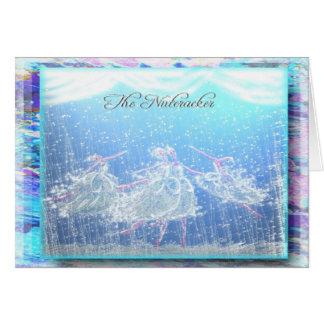 """Nutcracker Ballet """"Snow""""-355 Card"""