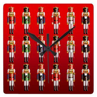Nutcracker Christmas Ballet Square Wall Clock