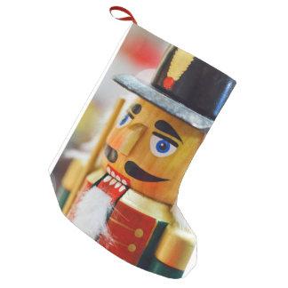 Nutcracker Christmas Holiday Seasons Greetings Art Small Christmas Stocking
