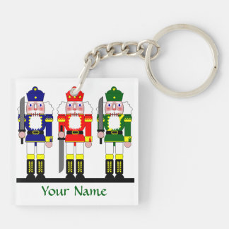 Nutcracker Christmas Personalized Key Ring