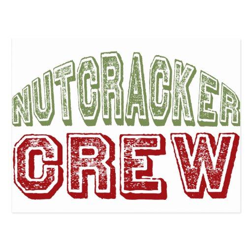 Nutcracker Dance Crew Design for Christmas Postcard