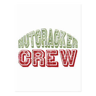 Nutcracker Dance Crew Design for Christmas Postcard