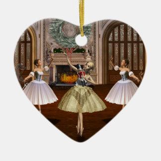 Nutcracker Dancing Ballerinas Holiday Ornament