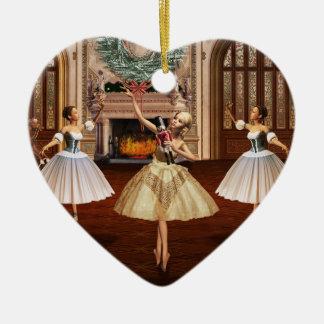 Nutcracker - Feliz Navidad Spanish Heart Ornament