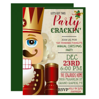 Nutcracker Holiday Christmas Invitation