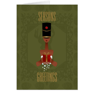 Nutcracker Holiday Gift Christmas Greeting Card