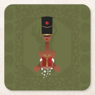 Nutcracker Holiday Gift Christmas Square Coasters